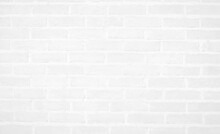 Modern White Vintage Brick Wall Texture For Background Retro White  Washed Old Brick Wall Surface Grungy Shabby Background Weathered Texture Stained Old Stucco Light Gray And Paint White Brick Wall.