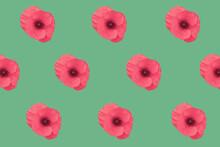"Dark Pink ""Poppy"" Flowers Alig..."