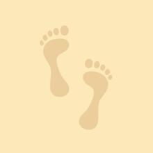 Footmark Footprint On Sand Bac...