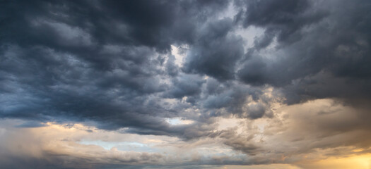 Dramatic storm sunset clouds skies heaven cloudscape background