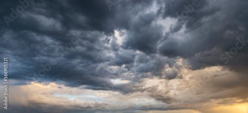 Fototapeta Dramatic storm sunset clouds skies heaven cloudscape background obraz