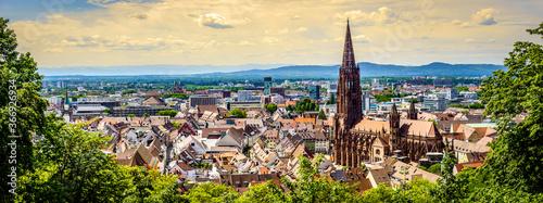 Fotografering old town of freiburg im breisgau - germany