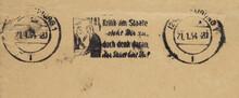 Post Brief Frankiert Gestempel...
