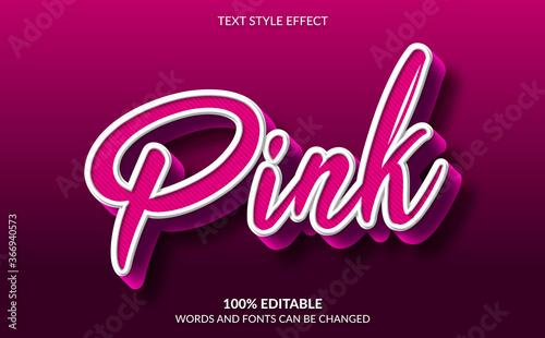 Fototapeta Editable Text Effect, Cute Pink Text Style obraz
