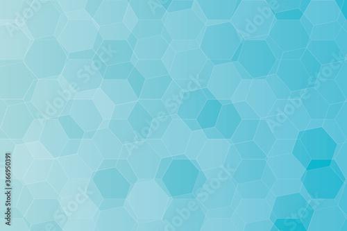 Fototapeta Seamless blue hexagon background pattern