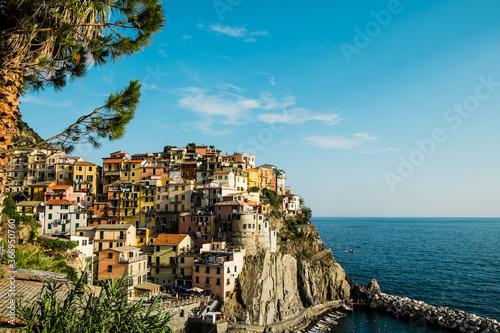 Panoramica delle Cinque Terre in Liguria. Canvas Print