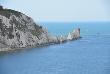 The Needles Headland At The Isle Of Wight In England.