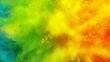 Super slow motion of coloured powder explosion. Filmed on high speed cinema camera, 1000fps.