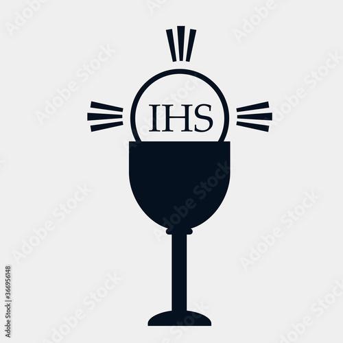 Symbol ikona kościół katolicki ryba IHS gołębica - fototapety na wymiar