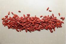 Dry Goji Berry Red Macro Closeup