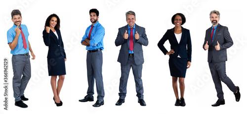 Obraz na plátně 6 motivierte männliche und weibliche internationale Geschäftsleute