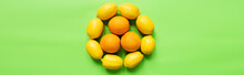 Top View Of Ripe Lemons And Or...