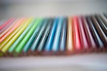 Close Up Di Matite Colorate Su...