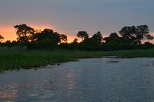 African Sunset Over The Okavan...