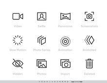 Media Files Vector Icon Set. C...