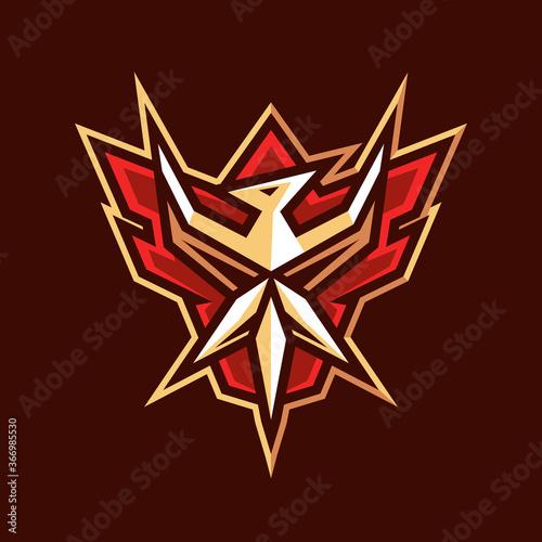 Obraz na plátne flying bird emblem logo design