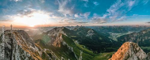 Sonnenaufgang am Aggenstein Österreich Deutschland Canvas Print