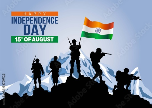 happy independence day India Fototapete