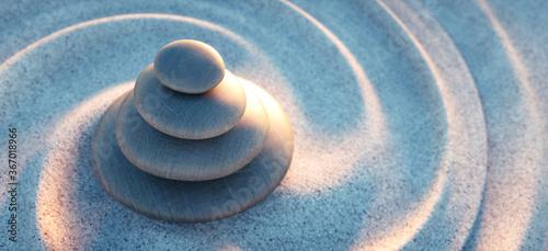 Fototapeta Steinturm mit Sandwellen im Sonnenlicht abends  obraz