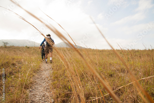 Photo Outdoor View of  landscape of Chichonal path trekking, Chiapas, Mexico
