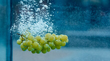 Grapes Thrown Into The Water So There Were Bubbles