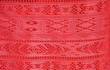 Red Ornament Fabric Texture