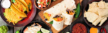Mexican Food Table Scene Banne...