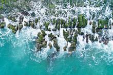 Laomei Green Reef Aerial View - Taiwan North Coast Seasonal Features, Shot In Shimen District, New Taipei, Taiwan.