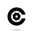 Alphabet C letter logo design