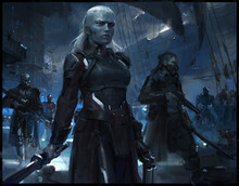 SPACE PIRATE CONCEPT ART PAINTING SCIENCE FICTION