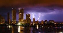 Lightning Storm In The Bay Of...