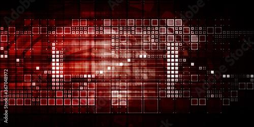 Платно Abstract Tech Background