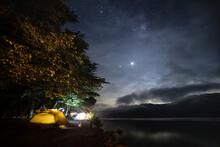 キャンプ場jの夜景