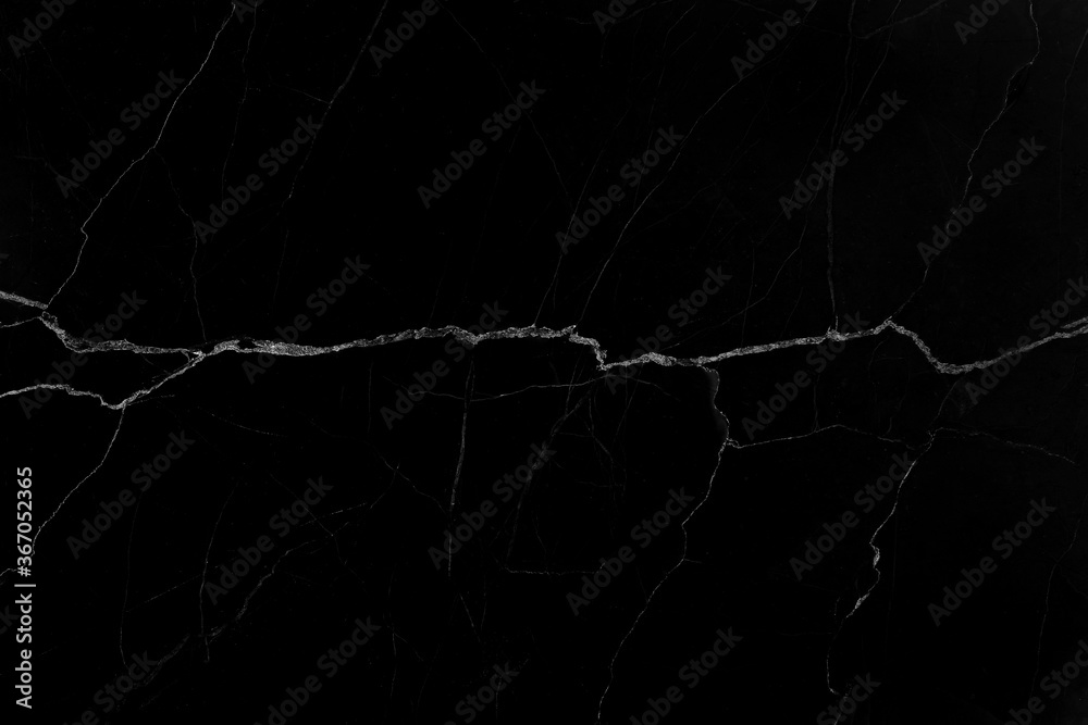 Fototapeta Black marble natural pattern for background, abstract black and white