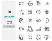 Set Of Tax Icons, Finance Mone...