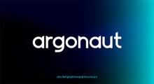Argonaut, An Abstract Technology Science Alphabet Lowercase Font. Digital Space Typography Vector Illustration Design