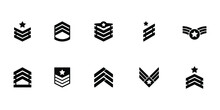 Collection Of Military Rank Ic...