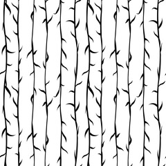 monochrome seamless background with thin branches