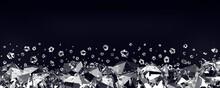 Diamonds On A Black Background...