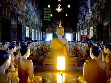 Buddha Statues And Monks Statu...
