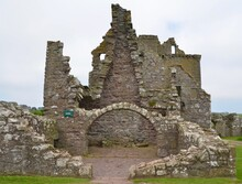 Ruins At Dunnottar Castle In Stonehaven, Scotland, UK