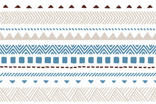 Ethnic Vector Seamless Pattern. Tribal Geometric Background, Boho Motif, Maya, Aztec Ornament Illustration. Mexican Textile Print Texture