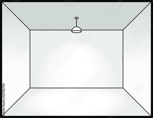 Diagram of interior lighting design: ceiling pendant. Wall mural