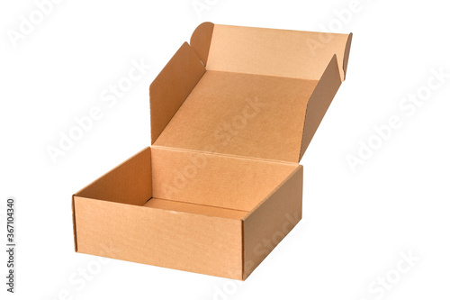 Brown cardboard carton box, isolated Canvas-taulu