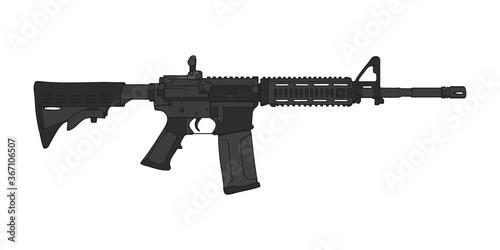 Obraz na płótnie American M4 assault rifle