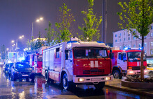Fire Engines In The Courtyard ...