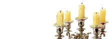 Old Candlestick With Candles I...