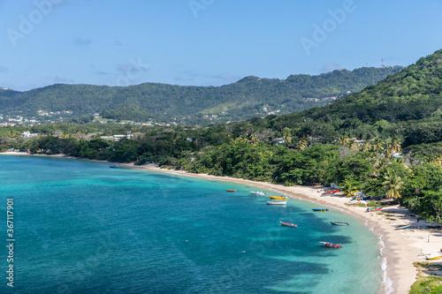 Fotografie, Tablou Paradise beach view in Carriacou, Grenada