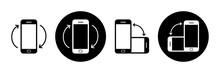 Rotate Smartphone Icon Set. Mo...