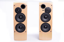 Large Speakers In A Wooden Cas...